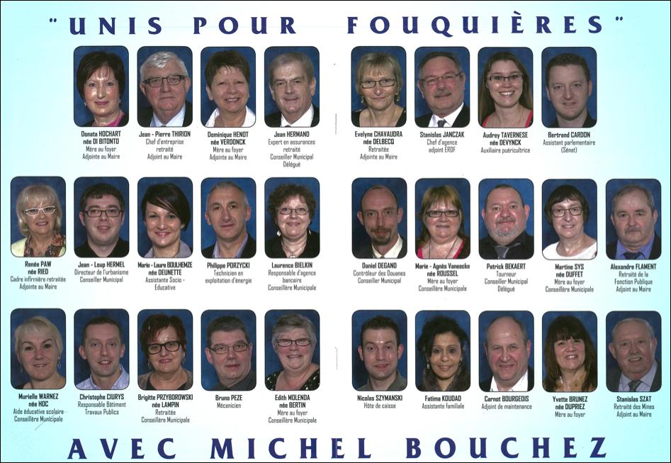 les candidats qui accompagnent Michel BOUCHEZ